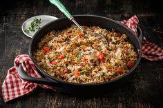 אורז שערות - אורז שחום עם אטריות, בצל מטוגן וטחינה (אפיק גבאי)