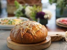 """Pull-Apart Garlic Bread with Asiago Cheese (Oh, the Weather Outside is Frightful) - Valerie Bertinelli, """"Valerie's Home Cooking"""" on the Food Network."""