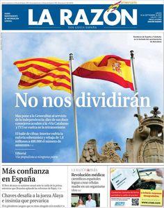 Los Titulares y Portadas de Noticias Destacadas Españolas del 12 de Septiembre de 2013 del Diario La Razón ¿Que le pareció esta Portada de este Diario Español?