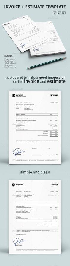 Invoice + Estimate Template | Download: http://graphicriver.net/item/invoice-estimate-template/9110794?ref=ksioks