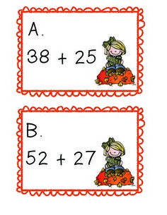 Open Number Line: Task Cards: Centers Get your students up and moving this fall to practice adding double digit numbers by adding on an open number line.Clipart courtesy of Melonheadz Illustrating Subtraction Activities, Math Activities, Open Number Line, Number Lines, Math Addition, Addition And Subtraction, Math Doubles, Math School, Math Class