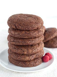 Raspberry Cheesecake Stuffed Fudge Cookies
