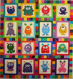 Mini Monster Quilt Pattern by mizpats on Etsy | Quilt Patterns ... : silly goose quilt pattern - Adamdwight.com