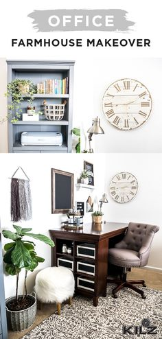ideas for dark wood furniture office paint colors Painting Wood Furniture White, Dark Wood Furniture, Painted Furniture, Home Office Design, Home Office Decor, Home Decor, Design Desk, Office Designs, Classic Bookshelves