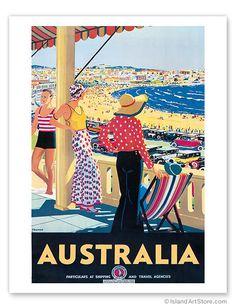 Australia Beach - Giclée Art Prints & Posters