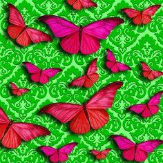 |Wallpaper| Buttlefies - Pink  |=|  Like SZ ^-^