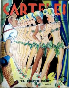 Cuba  Carteles, edicion 22 de septiembre 1940, Revista cubana Gift (Regalo) Carteles - Vintage Cuban magazine in Spanish, published in Cuba - Edition: September 22, 1940. Interior pages in excellent condition, cover damaged around...