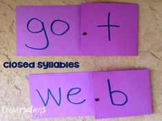 Open & Closed Syllable Multisyllabic Word Activities