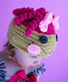 Custom made crochet lalaloopsy hat by sarahsmama1985 on Etsy, $18.00