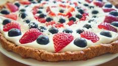 Low Cal Healthy & Light Berry Dessert Pizza For Your Memorial Day BBQ!