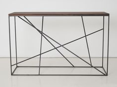 Rectangular steel and wood console table Mikado Collection by INTERNI EDITION | design Janine Vandebosch