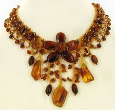 Rare Handcrafted Natural Baltic Amber Necklace - Russia