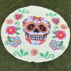SHARE & Get it FREE | Festival Halloween Flower and Skull Print Polyster Round Beach ThrowFor Fashion Lovers only:80,000+ Items • FREE SHIPPING Join Twinkledeals: Get YOUR $50 NOW!
