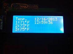 Arduino Time & Temp Display Shield