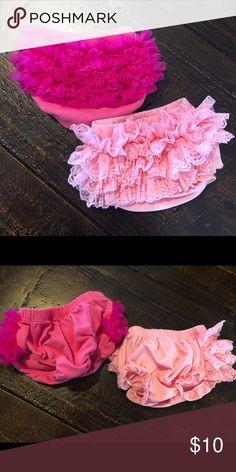 Angla 2pcs Flower Headband Tutu Skirt for Newborn Baby Girl Toddlers Infant 0-12 Months