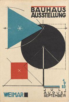 Herbert Bayer. Bauhaus Ausstellung Weimar Juli–Sept, 1923, Karte 11. 1923. Lithograph, 5 7/8 × 3 15/16″ (15 × 10 cm)