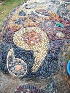 paisley mosaic stepping stone path