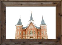 Brittney Gurr Photo of The Provo City Center Temple Top    Frame: Hand made rustic aged barn wood in either dark or light wood. *Frames vary in color due to the grain in the wood making each piece completely unique.  Sizes: Frame 26 x 20 in. (Print 24 x 18 in.) Frame 32 x 25 in. (Print 24 x 18 in.) Frame 38x26 in. (Print 36x24 in.) Frame 44 x 32 in. (Print 36 x 24 in.)