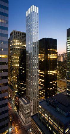 Foster's skinny skyscraper underway next to Mies' Seagram Building