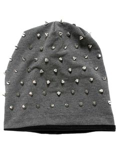 """Rocker Studded"" Knit Beanie say wut?!??!!......"