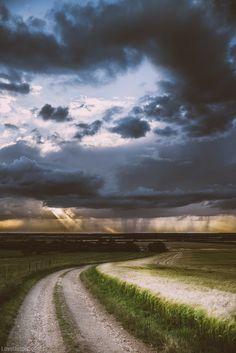 Beautiful storm rain clouds country