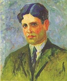 Oswald de Andrade (11 januari 1890 – 22 oktober 1954) Portret door Tarsila do Amaral, 1922
