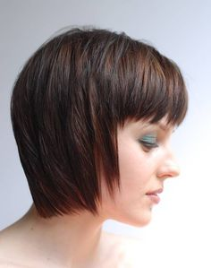 Best Short Layered Bob With Tapered Side Of Bang