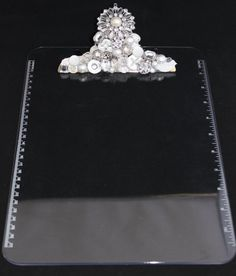 Three Rhinestone Embellished Clipboard by LoveLaceCraftoure Clipboard Crafts, Clipboard Wall, Post It Note Holders, Decoupage Furniture, Jewelry Art, Unique Jewelry, Celebration Quotes, Craft Fairs, Architecture