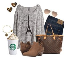 """""""I Really Need to Start Posting More Fall Sets"""" by lulucutshall ❤ liked on Polyvore featuring Abercrombie & Fitch, H&M, Louis Vuitton, Steven, Alex and Ani, Ray-Ban and Tory Burch"""