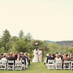 Real Weddings: Outdoor Ceremony Ideas