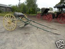 REDUCED $300 Antique Horse Drawn Sulky Carriage Farm Equipment Vehicle