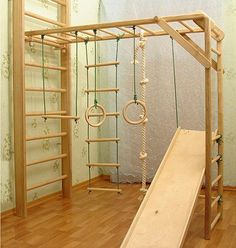wooden kids jungle gym playroom ideas kids room gym ideas bars ladder rope