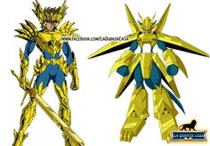 Well, find the differences between Aiolia and Magnamon from Digimon Adventure 2 XD  If you like Saint Seiya follow me at: www.facebook.com/LaQuintaCasa