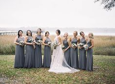 As well as this darker, stormier gray. | 21 Beautiful And Unexpected Bridesmaid Dress Colors