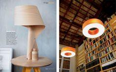 Lámparas de madera|Espacios en madera