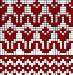 Цветочные орнаменты – 172 фотографии Loom Knitting Patterns, Knitting Charts, Knitting Stitches, Knitting Designs, Baby Knitting, Knitting Tutorials, Knitting Machine, Vintage Knitting, Free Knitting