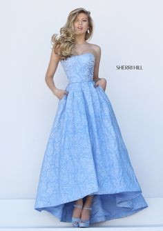Sherri HIll patterned prom dress with pockets and Aubrey length - Prom Dresses at Hope's Bridal