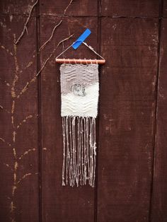 Woven Wall Hanging // Weaving with Mica and by IslandFordWeaving