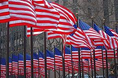 The flag...I get teary when I hear people saying the Pledge of Allegiance and when I sing the National Anthem.