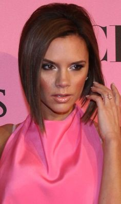 Victoria Beckham Bob Hairstyles - Sleek Long Bob