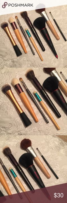 Random brush bundle Just don't use. All are in perfect condition. Most have never been used. 4 are Eco tools. All are full-sized. Will include 2 free gifts with purchase. !! ulta Makeup Brushes & Tools