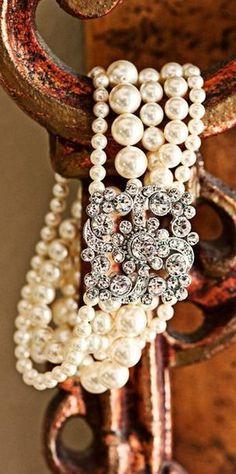 Pearl Bracelet | More here: http://mylusciouslife.com/photo-galleries/bling-fling/ #DiamondBracelets