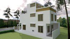 Simple Home Design Plan with 3 Bedrooms – SamPhoas Plan 3d House Plans, Model House Plan, Duplex House Plans, Bedroom House Plans, Simple House Design, Modern House Design, 3 Storey House Design, Villa Design, Facade House