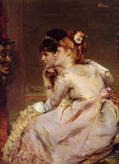 The Japanese Mask (Intrigue), by Alfred Stevens (1823-1906)