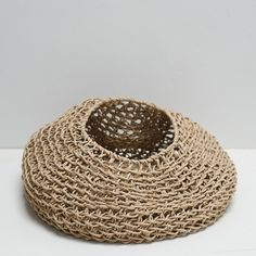 Cloth and Goods - Paper Cord Round Basket Natural