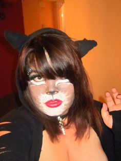 my cat makeup!