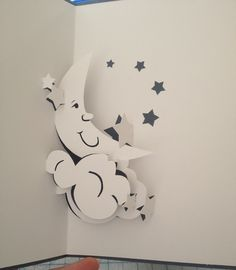 Moon and stars pop-up card