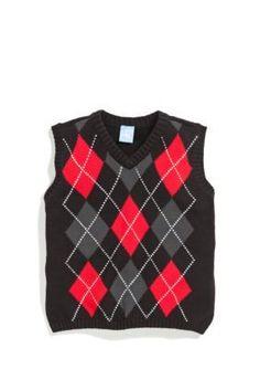 J Khaki   Argyle Sweater Vest Boys 4-7