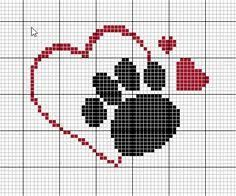 Resultado de imagem para patinhas em ponto cruz Cross Stitch Heart, Cross Stitch Cards, Cross Stitch Animals, Cross Stitching, Cross Stitch Embroidery, Embroidery Patterns, Cross Stitch Designs, Cross Stitch Patterns, Graph Crochet