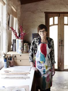 Ceramicist Ruby Pilven in her studio at Smythes Creek, just outside Ballarat. Photo – Eve Wilson for The Design Files.